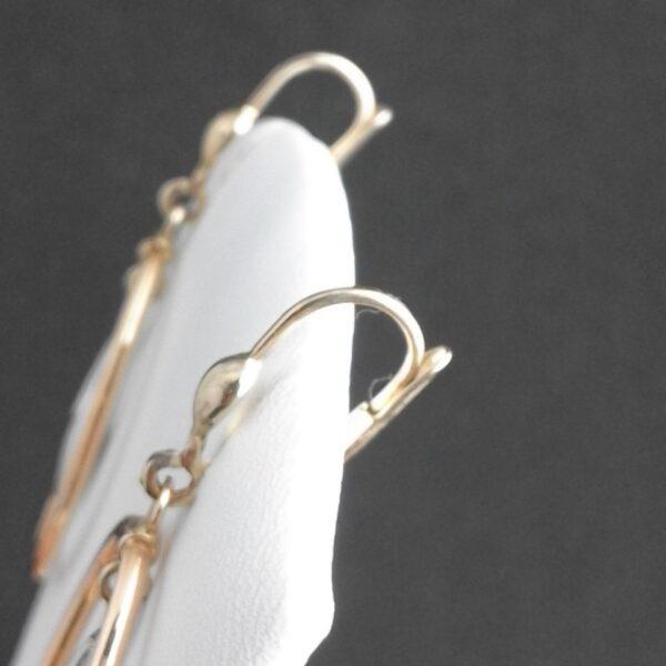 Gelbgold - Weissgold Ohrringe