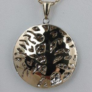 Gold Anhänger Lebensbaum mit Kette