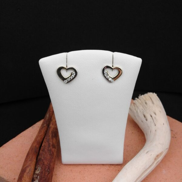 Gold Ohrstecker Herzform