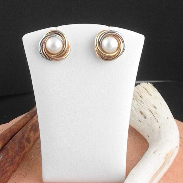 Gold Ohrstecker mit Perle
