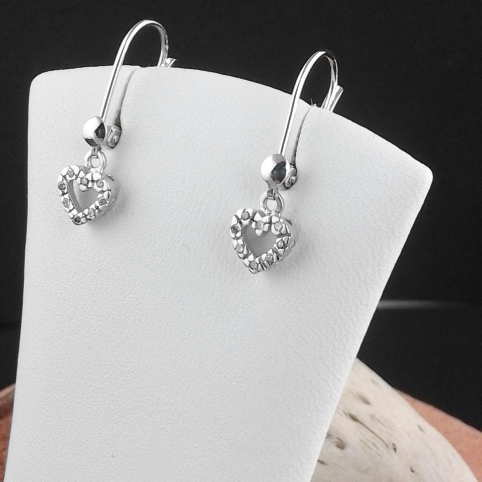Weissgold Ohrringe mit Brillanten Herzform