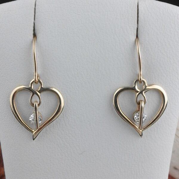 Gold Ohrringe Herzform