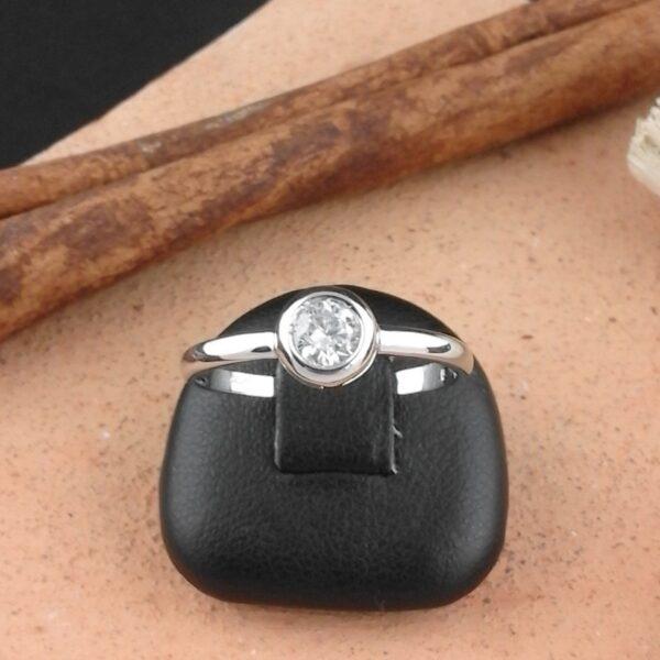 Weissgold Ring Solitär