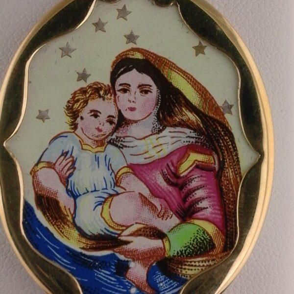 Marien Anhänger mit Goldfassung