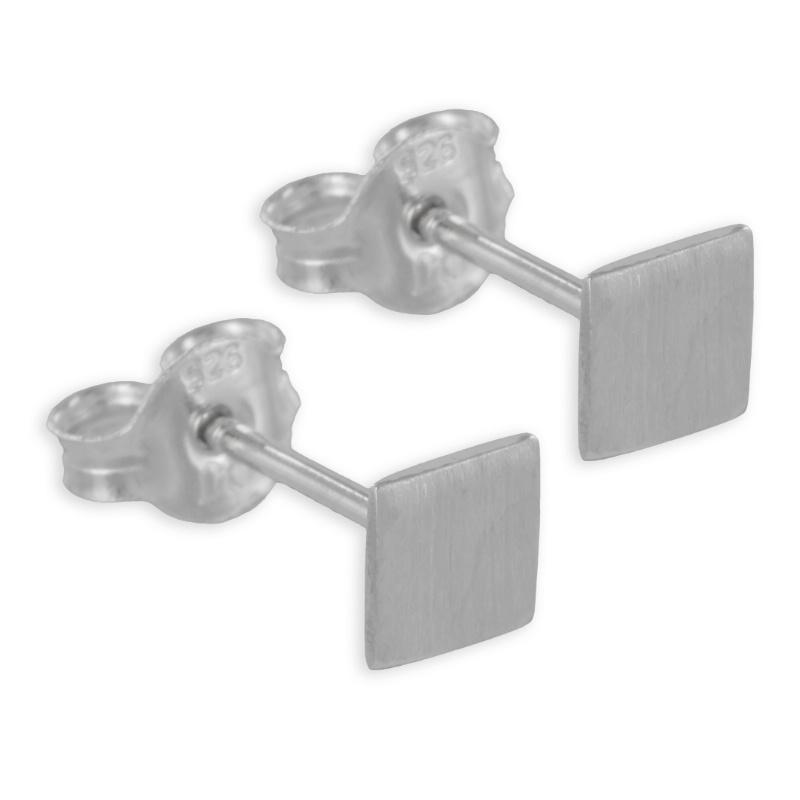 lovejewel Ohrstecker Quadrat 5x5mm Echt Silber 925/000