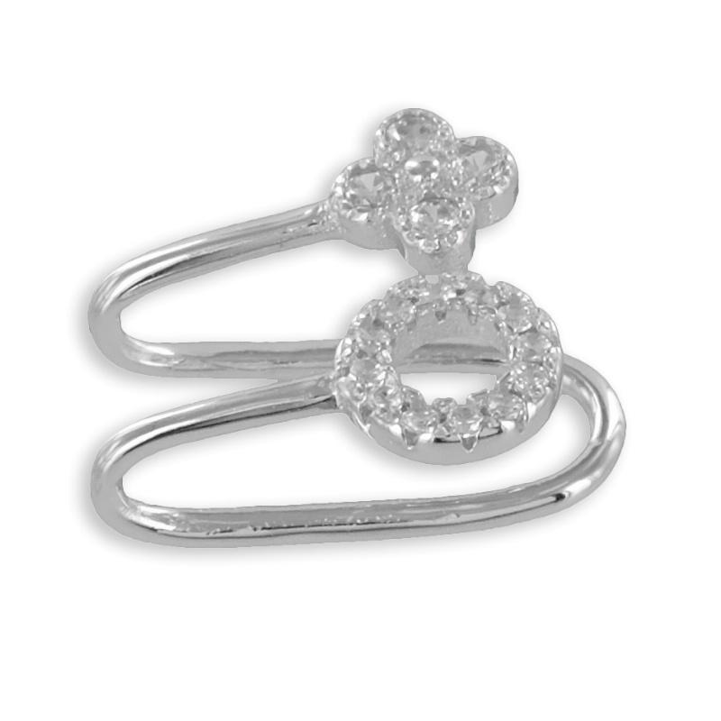 lovejewel Ear Cuffs mit 32 Zirkonia Echt Silber 925/000