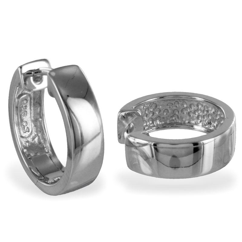 lovejewel Klappcreolen 15mm glanz oder matt - Silber 925/000