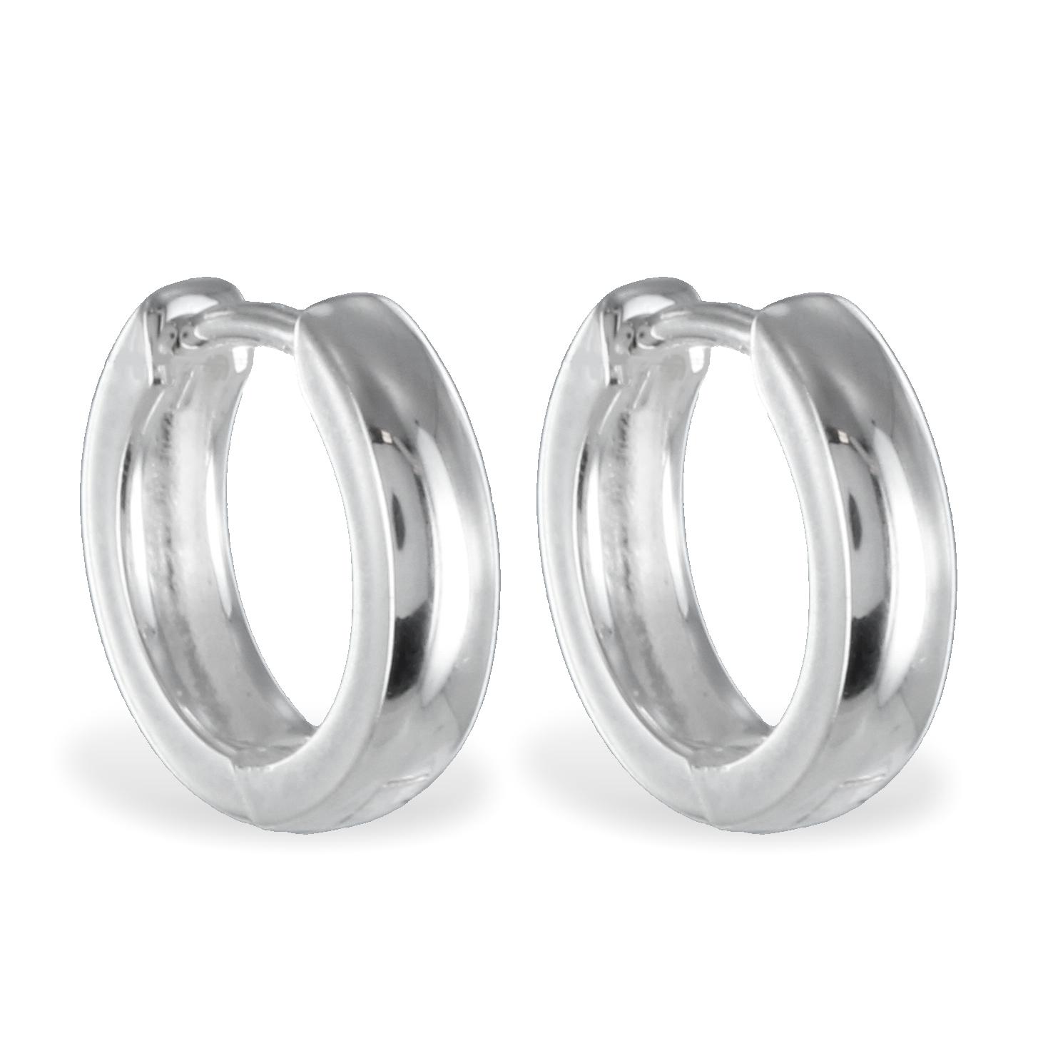 lovejewel Klappcreolen 12mm - Silber 925/000